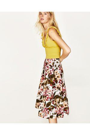 elegancki damskie spódnice z nadrukiem Zara, porównaj ceny i