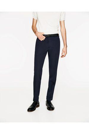Mężczyzna Spodnie eleganckie - Zara ELEGANCKIE GRANATOWE SPODNIE