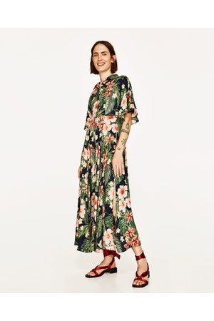 długa sukienka koszulowa zara
