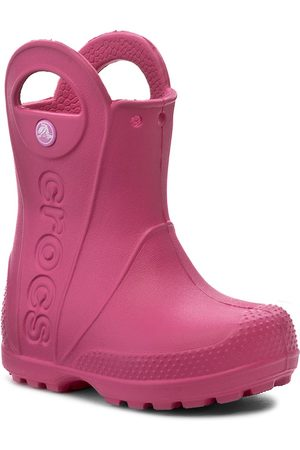 Crocs Kalosze - Handle It Rain Boot Kids 12803 Candy Pink