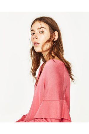 Swetry i Pulowery - Zara SWETER Z FALBANKAMI - Dostępny w innych kolorach