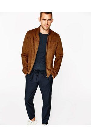 zamszu dostępny męskie kurtki Zara, porównaj ceny i kup online