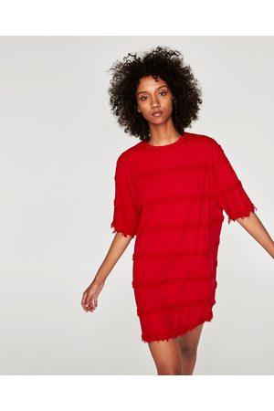 617cc7a364 czerwona sukienka damskie sukienki dzienne Zara