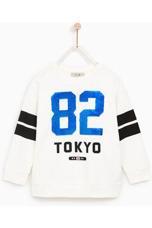 """Zara BLUZA """"82 TOKYO"""" Z DWUBARWNYMI CEKINAMI"""