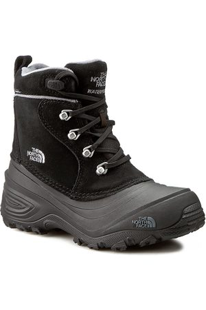 The North Face Śniegowce - Youth Chilkat Lace II T92T5RKZ2 TNF Black/Zinc Grey
