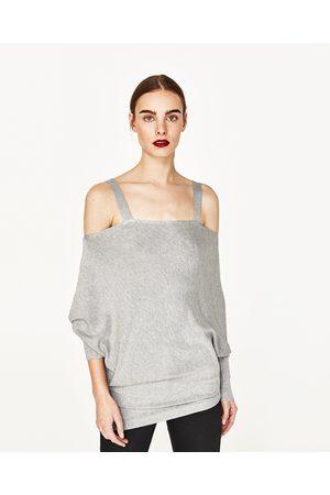 Kobieta Swetry i Pulowery - Zara SWETER OVERSIZE Z WYCIĘCIAMI - Dostępny w innych kolorach