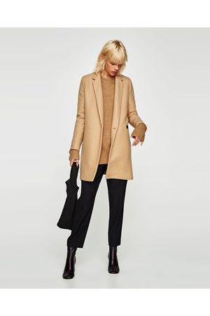 Zara SOFT-FEEL DOUBLE-BREASTED COAT
