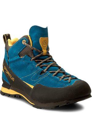 La Sportiva Mężczyzna Buty trekkingowe - Trekkingi - Boulder X Mid Gtx GORE-TEX 17EBY Blue/Yellow