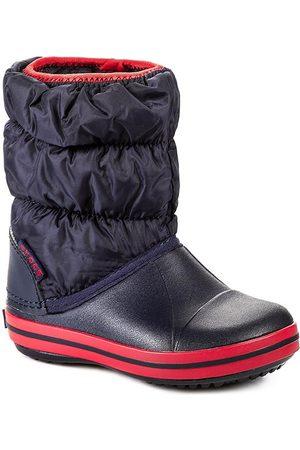 Crocs Śniegowce - Winter Puff 14613 Navy/Red