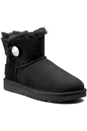 UGG Buty - W Mini Bailey Button Bling 1016554 W/Blk