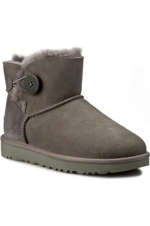 UGG Buty - W Mini Bailey Button II 1016422 W/Grey