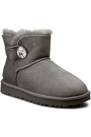 UGG Buty - W Mini Bailey Button Bling 1016554 W/Grey