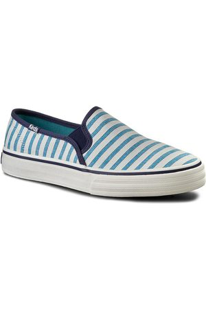 Keds Tenisówki - Double Decker WF54670 Stripe Blue