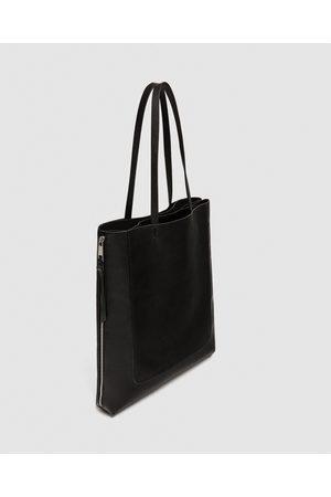 8947d856e6336 materiał damskie torby shopper Zara, porównaj ceny i kup online