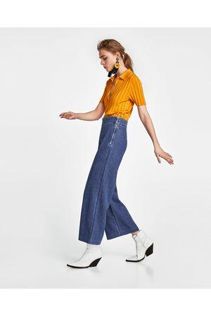 Zara JEANS CULOTTE MALIBU BLUE
