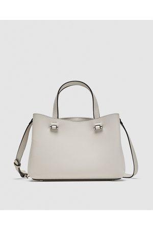 Zara CITY BAG WITH INSIDE ZIP - Dostępny w innych kolorach