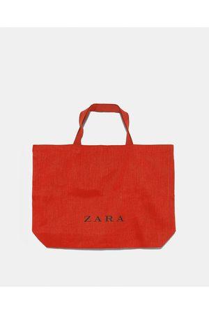 Zara TORBA TYPU SHOPPER Z LOGO