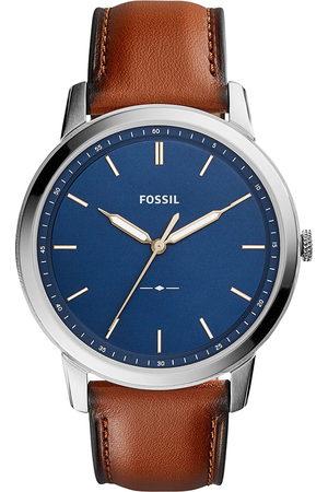 Fossil Zegarek - The Minimalist 3H FS5304 Brown/Silver