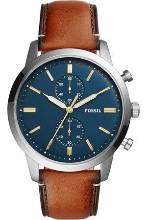 Fossil Mężczyzna Zegarki - Zegarek - Townsman FS5279 Light Brown/Silver/Steel