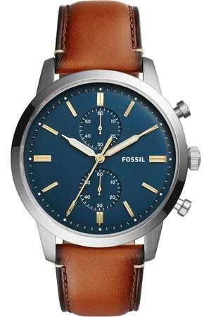 Fossil Zegarek - Townsman FS5279 Light Brown/Silver/Steel