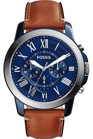 Fossil Mężczyzna Zegarki - Zegarek - Grant FS5151 Light Brown/Blue