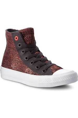 Converse Trampki - Ctas II Hi 155729C Almost Black/Ultra Red/White