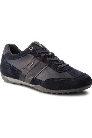 Geox Mężczyzna Buty casual - Sneakersy - U Wells C U52T5C 022ME CF47J Navy/Dk Burgundy