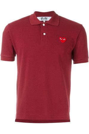 Comme des Garçons Mężczyzna Koszulki polo - Embroidered heart polo shirt