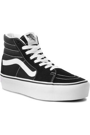 Vans Kobieta Platformy - Sneakersy - Sk8-Hi Platform 2 VN0A3TKN6BT Black/True White