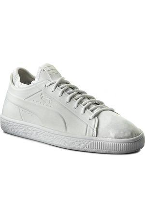 Puma Sneakersy - Basket Classic Sock Lo 365370 02 Wht/ Wht/ Wht