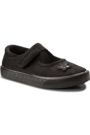 Clarks Półbuty - Hopper Go 261196496 Black Fabric