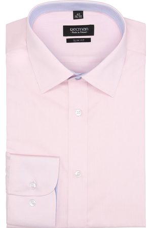 Recman Koszula bexley 2493 długi rękaw slim fit róż