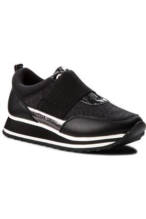 Tommy Hilfiger Sneakersy - Elastic Retro Runner FW0FW03336 Black 990