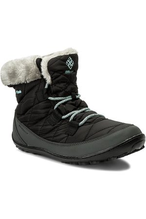 Columbia Śniegowce - Youth Minx Shorty Omni-Heat Waterproof BY1334 Black/Sparay 010
