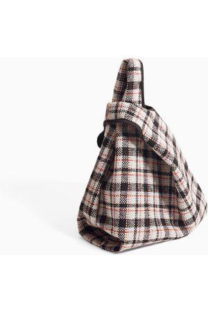 Zara CHECKED TOTE BAG