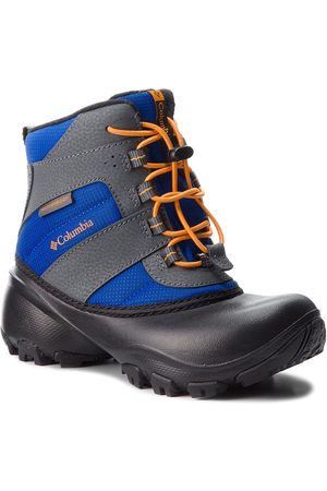 Columbia Śniegowce - Childrens Rope Tow III Waterproof BC1322 Azul/Orange Blast 437