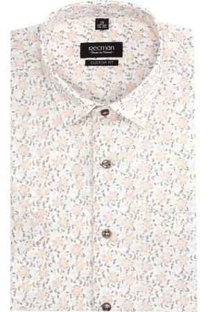 Recman Mężczyzna Koszule - Koszula bexley 2833 krótki rękaw custom fit ecru