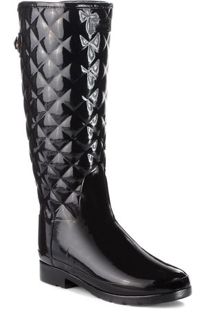 Hunter Kalosze - Original Refined Quilted Gloss WFT1031RGL Black
