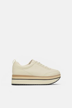 Zara TWO-TONE PLATFORM SNEAKERS