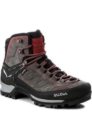 Salewa Mężczyzna Buty trekkingowe - Trekkingi - Mtn Trainer Mid Gtx GORE-TEX 63458-4720 Charcoal/Papavero 4720