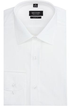 Recman Mężczyzna Na co dzień - Koszula versone 2520 długi rękaw slim fit ecru