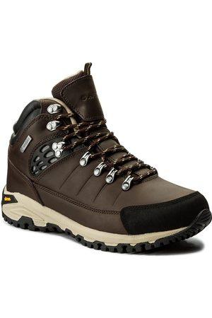 Hi-Tec Mężczyzna Buty trekkingowe - Trekkingi - Lotse Mid Wp AVSAW17-HT-01 Brown/Black/Beige