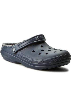 Crocs Klapki - Classic Lined Clog 203591 Navy/Charcoal
