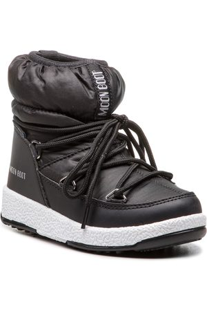 Moon Boot Śniegowce - Jr Girl Low Nylon Wp 34051800001 Black