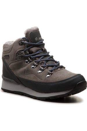 Hi-Tec Trekkingi - Midora Mid Wp Wo's AVSAW18-HT-01-Q3 Medium Grey/Dark Grey/Lake Blue
