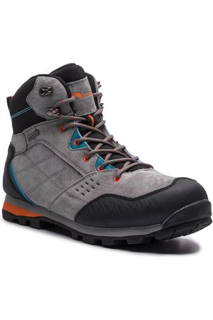 Elbrus Trekkingi - Condis Mid Wp Dark Grey/Black/Peacock Blue/Orange