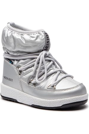 Moon Boot Śniegowce - Jr Girl Low 34051800002 Silver Met.