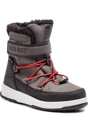 Moon Boot Śniegowce - Jr Boy Boot Wp 34051600002 Black/Castleroc