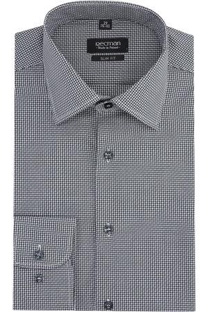 Recman Mężczyzna Na co dzień - Koszula versone 2806 długi rękaw slim fit grafit