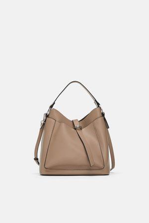 ac35ba10291cc tania odzież sklep damskie torby worki Zara, porównaj ceny i kup online